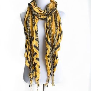 Black & Yellow Lightweight Spring Scarf